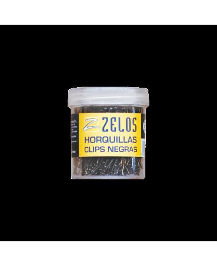 ZELOS HORQUILLAS CLIPS NEGRAS 240 UDS  (4NC)