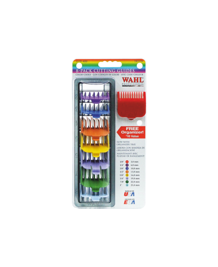 WAHL PACK 8 PEINES PLASTICO DE COLOR