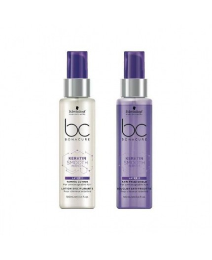 BC BONACURE KERATIN SMOOTH PERFECT DUO LAYERING 100ML X2